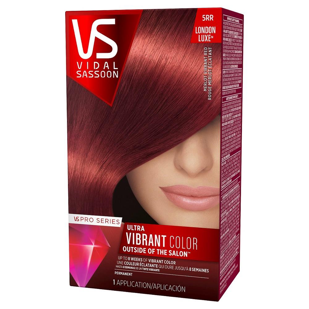 Vidal Sassoon Pro Series London Luxe Hair Color - 5RR Merlot Vibrant Red Hair Dye - 1 Kit