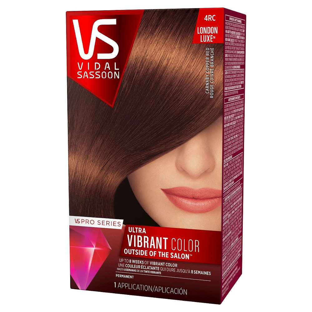 Vidal Sassoon Pro Series London Luxe Hair Color - 4RC Carnaby Copper Red - 1 kit, London Luxe Red