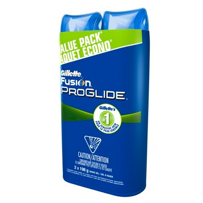 Gillette Fusion ProGlide Sensitive Shave Gel Twin Pack - 14oz