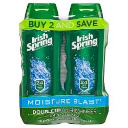 Irish Spring Moisture Blast Body Wash - 15oz/2pk