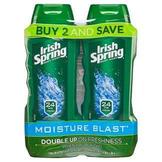Irish Spring Moisture Blast Moisturizing Body Wash - 18 fl oz/2pk