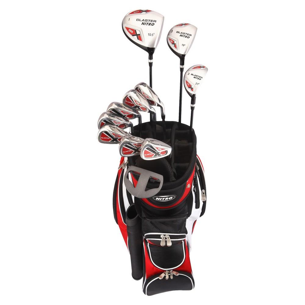 Nitro Golf Blaster Mens 15pc Golf Club Set - Black/Red