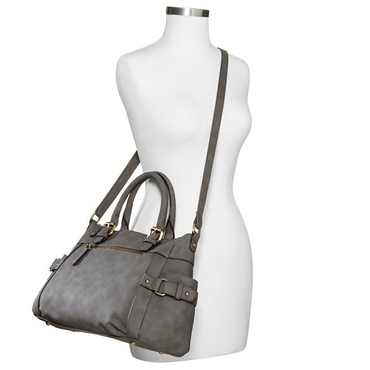 Women's Faux Leather Timeless Collection Satchel Handbag with ...