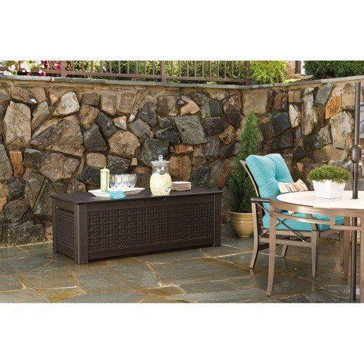 Rubbermaid  Patio Chic  Storage Trunk Deck BoxRubbermaid  Patio Chic  Storage Trunk Deck Box   Target. Rubbermaid Exterior Storage Containers. Home Design Ideas