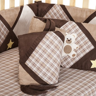 Sweet Jojo Designs Teddy Bear Crib Bumper - Brown