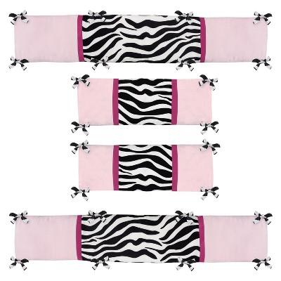 Sweet Jojo Designs Zebra Crib Bumper - Pink