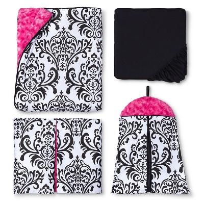 Sweet Jojo Designs 11pc Isabella Crib Set - Hot Pink