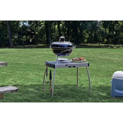 Weber® Portable Charcoal Grill Table   Silver