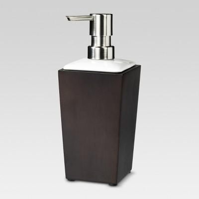 Bamboo Tall Soap Pump - Espresso - Threshold™