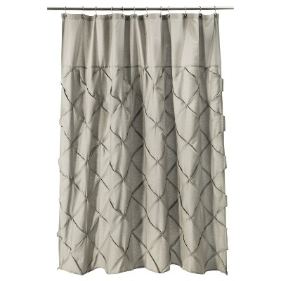Threshold™ Pinch Pleat Shower Curtain - Gray Marble