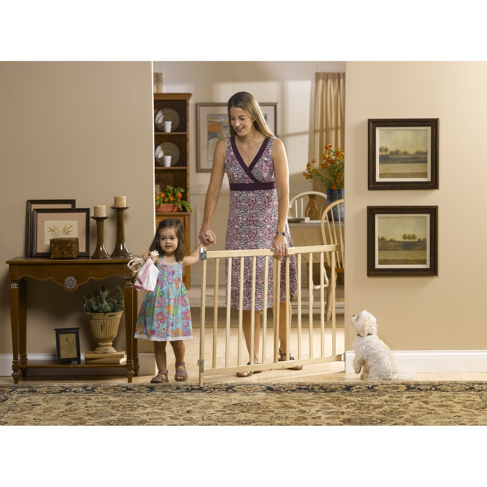 GuardMaster III 477 Tall Wood Slat Swing Baby and Pet Gate
