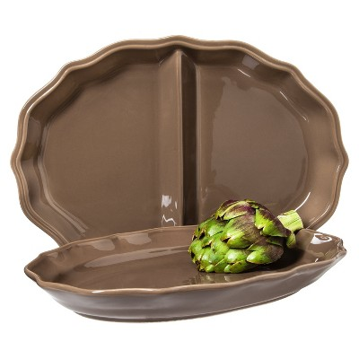 Wellsbridge Serving Platter Set 2-pc. Ceramic Mocha - Threshold™
