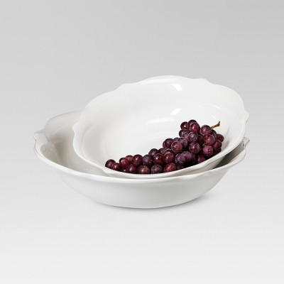 Wellsbridge Serving Bowl Set of 2 White - Threshold™