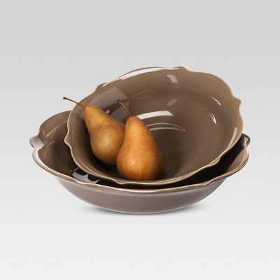 Wellsbridge Serving Bowl Set of 2 Mocha - Threshold™