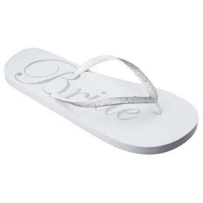 Women's Bridal Flip Flop White M - Gilligan & O'Malley™