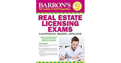 Barron's Real Estate Licensing Exams : Salesperson, Broker, Appraiser (Paperback) (Jack P. Friedman) - image 1 of 1