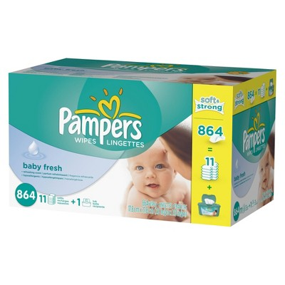 Pampers Baby Fresh Baby Wipes - 864 ct