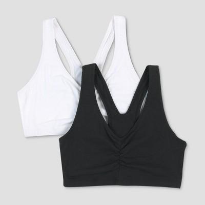 Hanes® Women's ComfortFlex Fit® Stretch Cotton Sport Bra H570 2pk - White/Black L