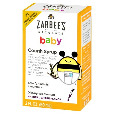 Children's Zarbee's Naturals Cough Syrup - Grape - 2 fl oz