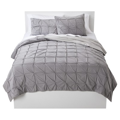 Sleek Gray Jersey Reversible Quilt (Full/Queen)- Room Essentials™