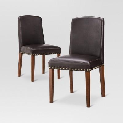 Lennox Dining Chair - Brown (Set of 2)- Threshold™