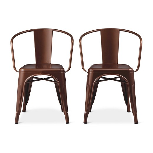 Carlisle Low Back Metal Dining Chair Target