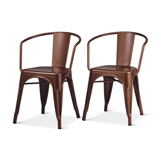 Dining Chairs Brown carlisle metal dining chair - threshold™ : target