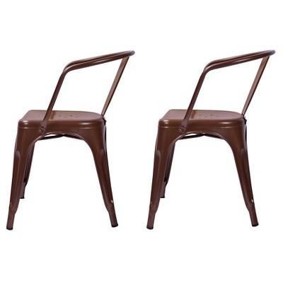 carlisle low back metal dining chair threshold