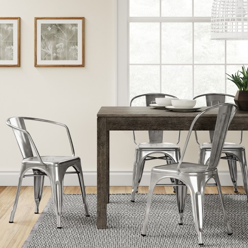 Carlisle Metal Dining Chair - Natural Metal (Set of 2) : Target
