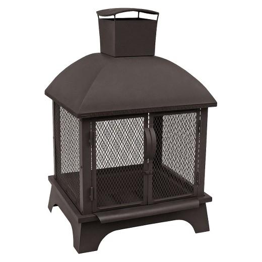 Landmann Redford Outdoor Fireplace Black