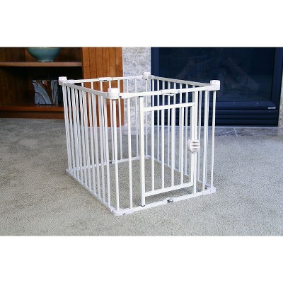 carlson 3in1 combo dog crate m brown