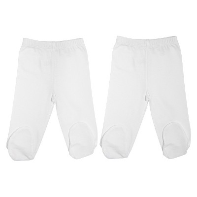 Burt's Bees Baby Newborn Organic 2 Pack Footed Pants Set - Cloud 0-3 M