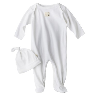Burt's Bees Baby® Organic Cotton Long Sleeve 2pc Coverall and Hat Set - Cloud White