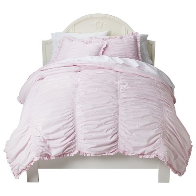 Ruched Comforter Set (Full/Queen)Pink 3pc - Simply Shabby Chic™