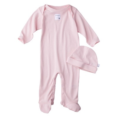 Burt's Bees Baby™ Newborn Organic Lap Shoulder Coverall and Hat Set - Blossom
