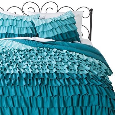 Blue Ruffle Bed Set