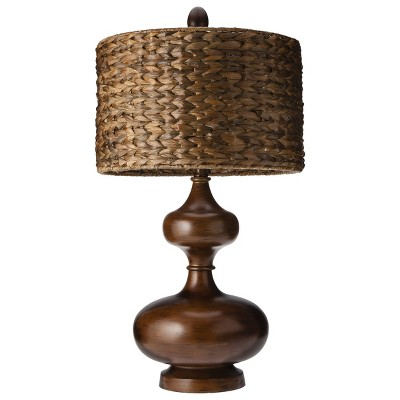 Gourd Table Lamp with Seagrass Shade