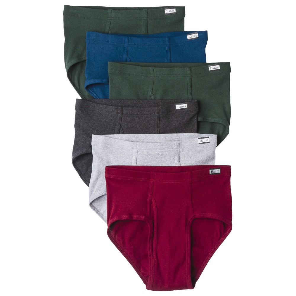 Hanes Mens 6pk Briefs - X-Large - Assorted, Size: XL, Variation Parent