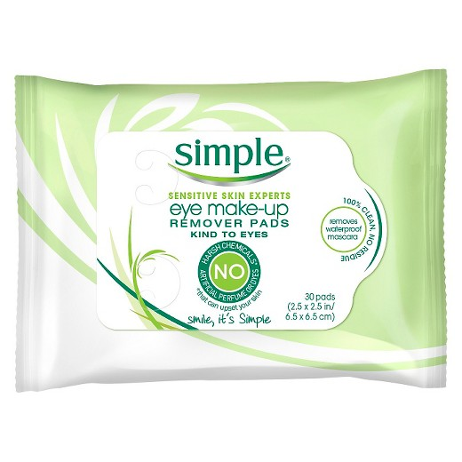 Simple Eye Makeup Remover Pads Kind to Eyes 30 ct : Target