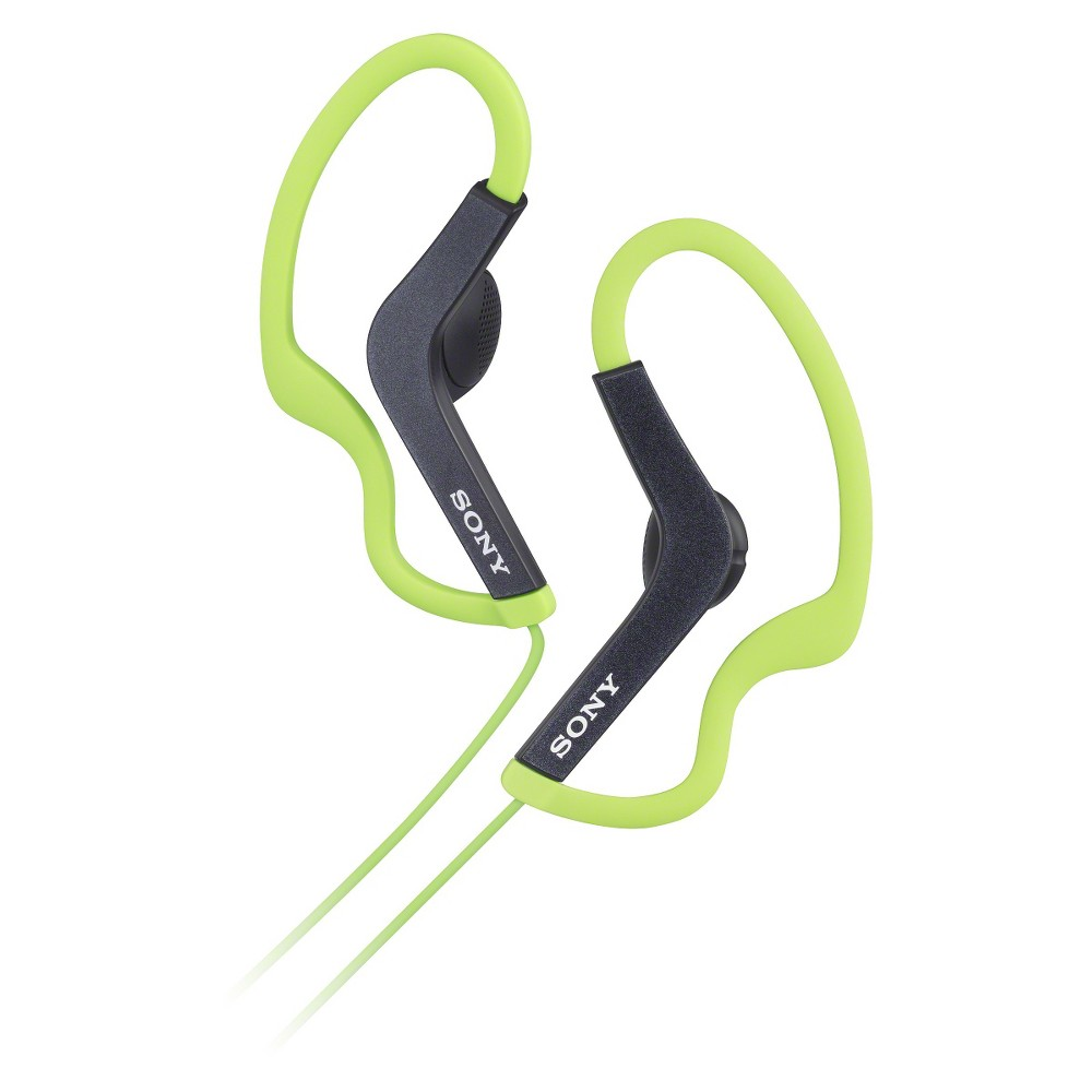 Sony Around-the-Ear Headphones - Green Find Headphones and Headsets at Target.com! The right gear and the right headphones. Sony Active Sports Headphones deliver secure comfort with water resistant1, high-quality sound to get you going! Color: Green. Age Group: Adult.