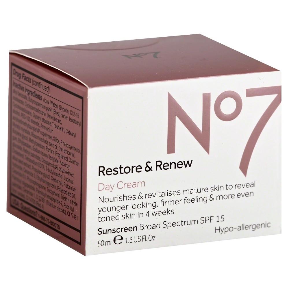 No7 Restore & Renew Day Cream Spf 15 - 1.6oz