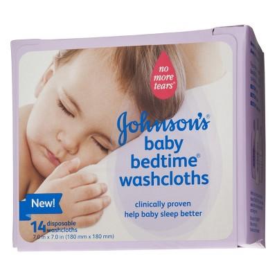 Johnson & Johnson's Baby Bedtime Washcloths - 14 ct