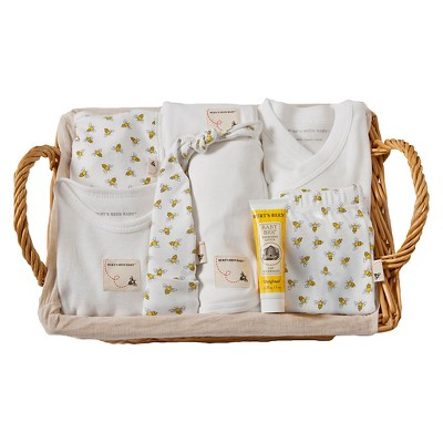 Burt's Bees Baby® Organic Cotton 10 Pc Take Me Home Gift Basket Set Honeybee - Cloud White