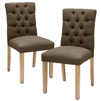 Brookline Tufted Dining Chair - Threshold. opens in a new tab.
