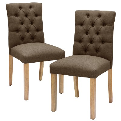 view Brookline Tufted Dining Chair - Threshold on target.com. Opens in a new tab.