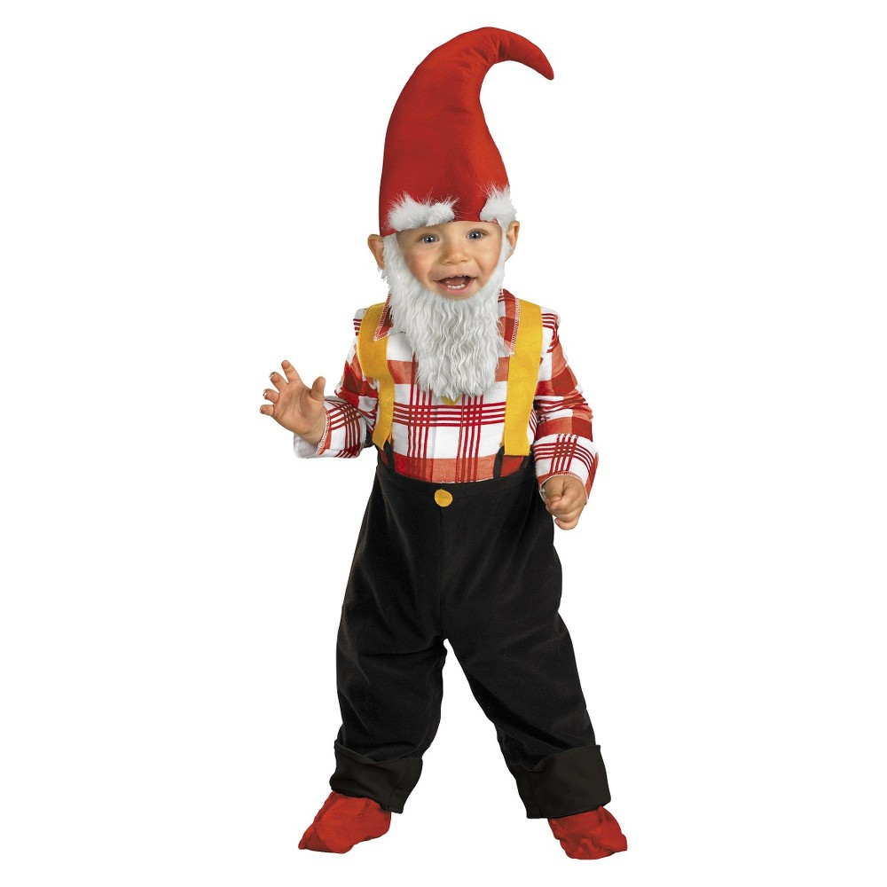 Baby/Toddler Garden Gnome Costume 2T-4T, Toddler Boys, Yellow
