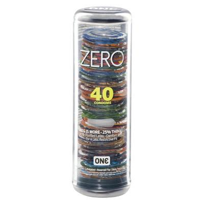 ONE ZERO Condoms - 40 Count
