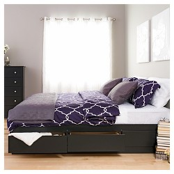 Mate's Platform 6 Drawer Storage Bed King - Prepac