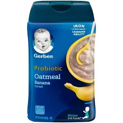 Gerber Oatmeal and Banana Baby Cereal - 8oz