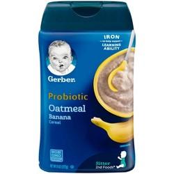 Gerber Baby Probiotic Oatmeal & Banana Cereal - 8oz